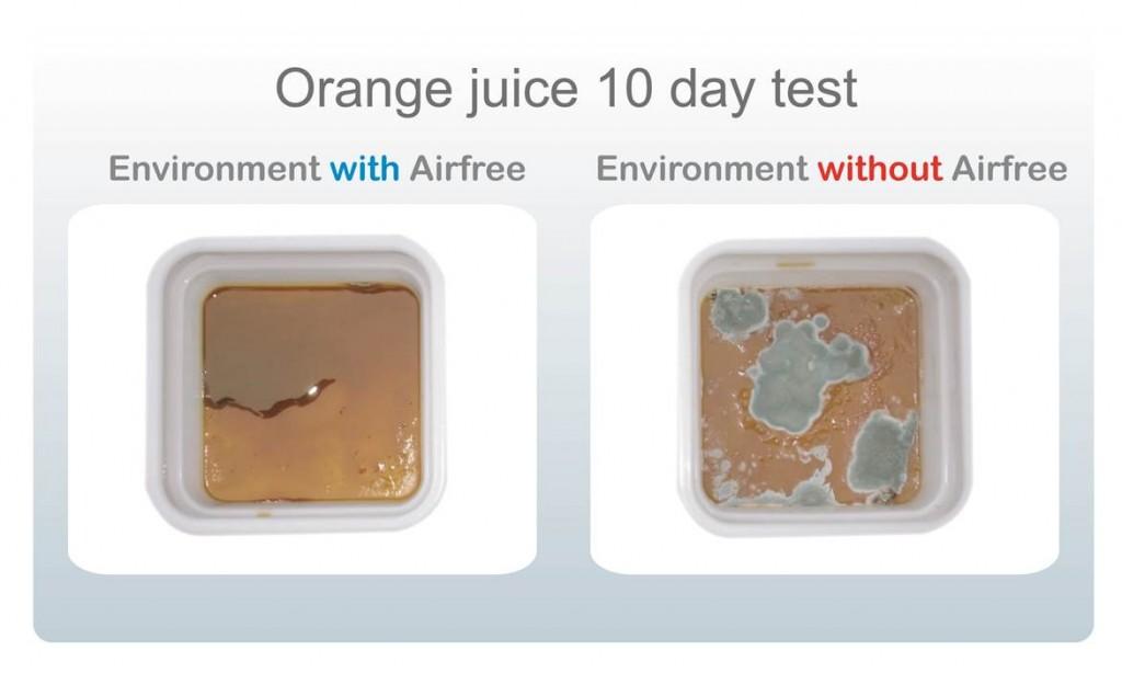 test oranje juice